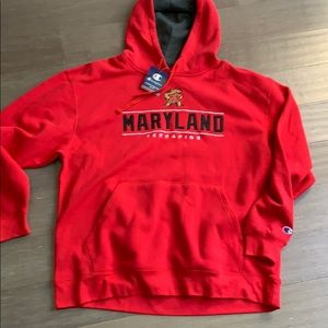 NWT Maryland Terrapins hooded sweatshirt XL